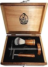 Rasierset für Männer - Man's Beard Barber Wood Set (Rasierpinsel 1St. + Rasierer 1St. + Ständer 1St.) — Bild N1