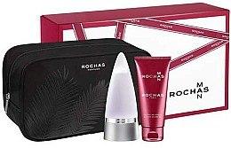 Düfte, Parfümerie und Kosmetik Rochas Rochas Man - Duftset (Eau de Toilette/100ml + Duschgel/100ml + Kosmetiktasche)