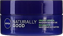 Düfte, Parfümerie und Kosmetik Regenerierende Nachtcreme mit Bio-Arganöl - Nivea Naturally Good Night Regeneration Care