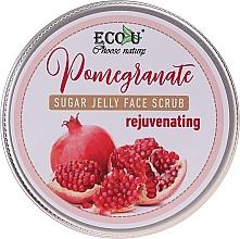Düfte, Parfümerie und Kosmetik Verjüngendes Zuckerpeeling für das Gesicht mit Granatapfel - Eco U Sugar Jelly Face Scrub