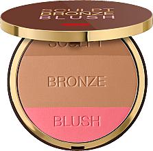 Düfte, Parfümerie und Kosmetik Kompakter Gesichtspuder Trio - Pupa Sculpt Bronze Blush
