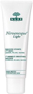 Leichte glättende Gesichtsemulsion gegen die ersten Falten für Mischhaut - Nuxe Nirvanesque Light 1st Wrinkles Smoothing Emulsion — Bild N1