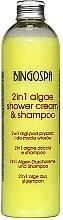 Düfte, Parfümerie und Kosmetik Shampoo mit botanischem Komplex - BingoSpa 2 in 1 Algae Shower Cream & Shampoo