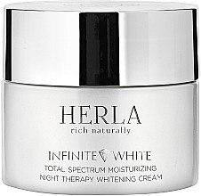 Düfte, Parfümerie und Kosmetik Feuchtigkeitsspendende und aufhellende Nachtcreme - Herla Infinite White Total Spectrum Moisturizing Night Therapy Whitening Cream