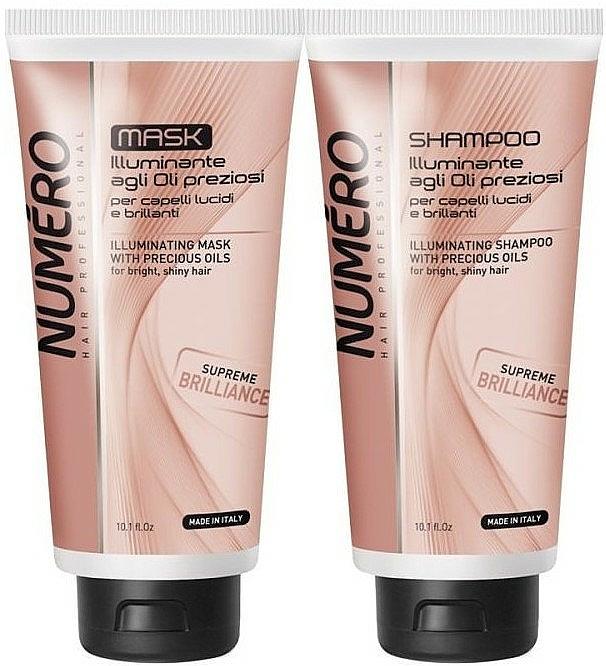 Haarpflegeset für mehr Glanz - Brelil Numero Supreme Brilliance (Shampoo 300ml + Haarmaske 300ml) — Bild N1
