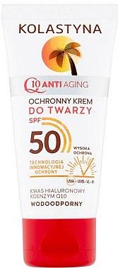 Wasserfeste Anti-Aging Sonnenschutzcreme für Gesicht SPF 50 - Kolastyna — Bild N1