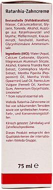 Rathania-Zahncreme - Weleda Rathania-Zahncreme — Bild N3