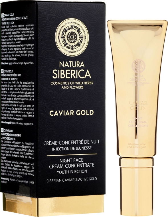 Verjüngendes Nachtcreme-Konzentrat - Natura Siberica Caviar Gold