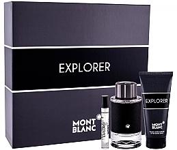 Düfte, Parfümerie und Kosmetik Montblanc Explorer - Duftset (Eau de Parfum 100ml + Eau de Parfum 7,5ml + Duschgel 100ml)