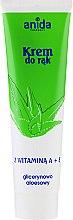 Düfte, Parfümerie und Kosmetik Glycerin-Handcreme mit Vitamin A + E - Anida Pharmacy Hand Cream Vitamin A And E With Glycerine