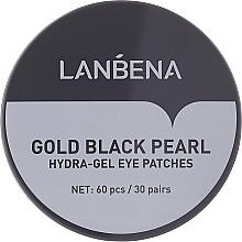 Düfte, Parfümerie und Kosmetik Hydrogel-Augenpatches mit goldenen und schwarzen Perlen - Lanbena Gold Black Pearl Hydra-Gel Eye Patch