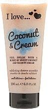 Düfte, Parfümerie und Kosmetik Glättendes Körperpeeling - I Love... Coconut & Cream Velvety Hydrates Exfoliating Shower Smoothie