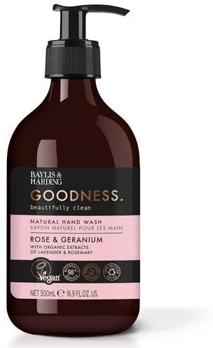 Natürliche Handseife Rose & Geranium - Baylis & Harding Goodness Rose & Geranium Natural Hand Wash — Bild N1