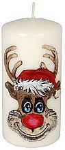 Düfte, Parfümerie und Kosmetik Dekorative Kerze Rudolf - Artman Christmas Candle Rudolf White Ø7xH18cm