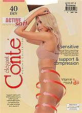 Düfte, Parfümerie und Kosmetik Strumpfhose für Damen Active Soft 40 Den Bronz - Conte