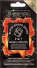 Düfte, Parfümerie und Kosmetik 2in1 Reinigende Detox Peelingmaske für das Gesicht - Bielenda Black Sugar Detox (Mini)