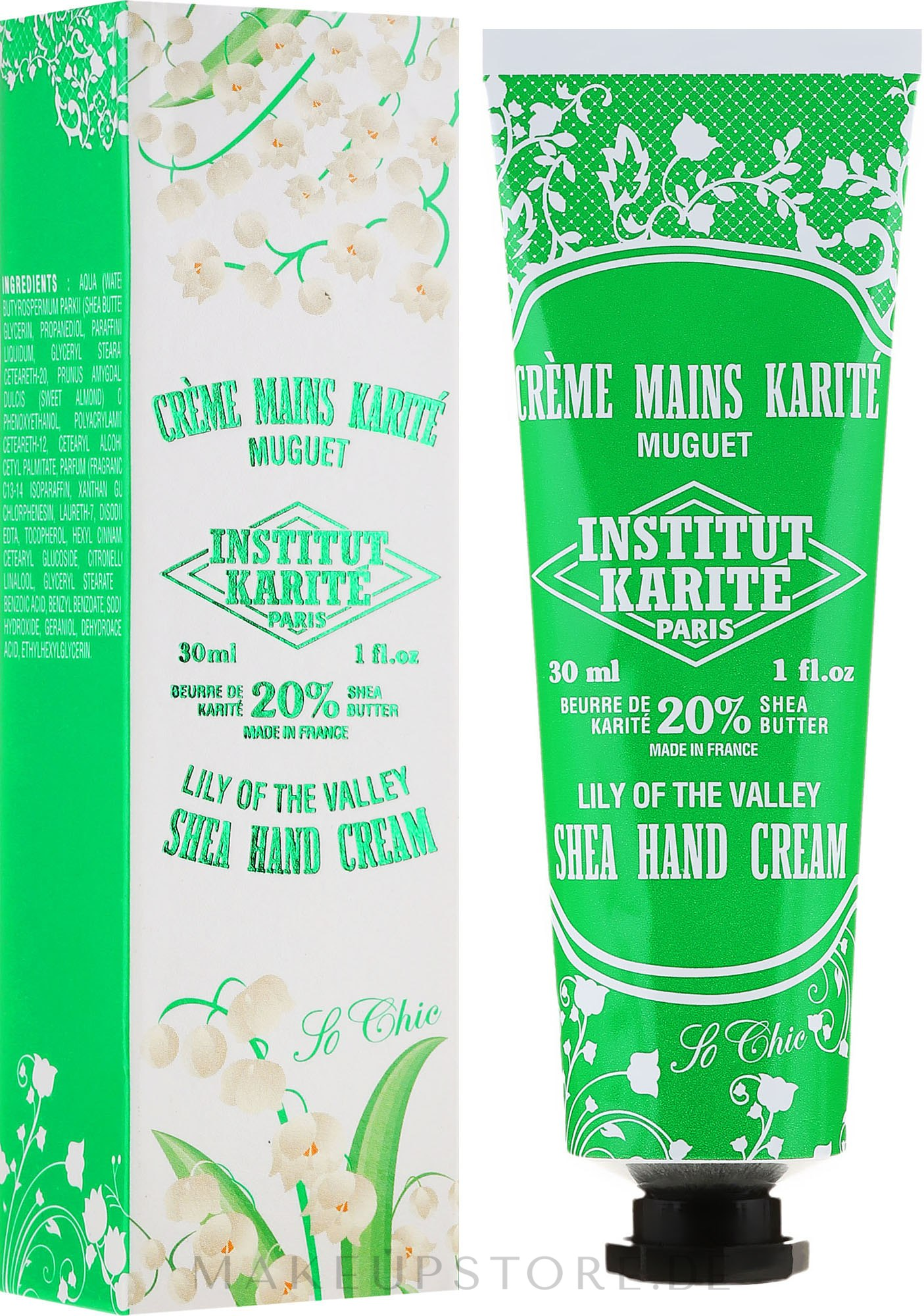 "Handcreme mit Sheabutter ""So Chic"" - Institut Karite So Chic Hand Cream Lily Of The Valley — Bild N5"