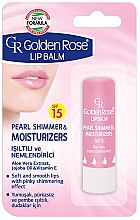 Düfte, Parfümerie und Kosmetik Lippenbalsam - Golden Rose Lip Balm Pearl Shimmer & Moisturizers SPF15