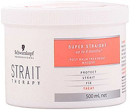 Düfte, Parfümerie und Kosmetik Regenerierende Haarmaske für glattes Haar - Schwarzkopf Professional Strait Therapy Post Treatment Balm