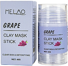 Düfte, Parfümerie und Kosmetik Reinigende und entgiftende Gesichtsmaske in Stick mit Trauben - Melao Grape Clay Mask Stick
