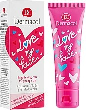Düfte, Parfümerie und Kosmetik Gesichtspflege für junge Haut mit Himbeeren und Waldbeeren - Dermacol Love My Face Rasberries & Forst Berries Scent Face Cream