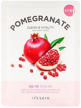 Reinigende Tuchmaske für das Gesicht mit Granatapfel - It's Skin The Fresh Pomegrante Mask Sheet — Bild N1