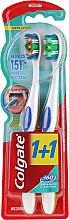 Düfte, Parfümerie und Kosmetik Zahnbürste mittel 360° Whole Mouth Clean grün, orange 2 St. - Colgate Classic Plus Medium Toothbrush