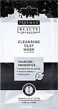 Düfte, Parfümerie und Kosmetik Reinigungsmaske für das Gesicht mit Aktivkohle und Probiotika - Freeman Beauty Infusion Cleansing Clay Mask Charcoal & Probiotics (Mini)