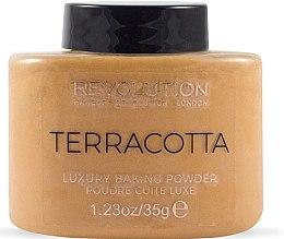 Düfte, Parfümerie und Kosmetik Gebackener Gesichtspuder - Makeup Revolution Terracotta Luxury Baking Powder
