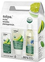 Düfte, Parfümerie und Kosmetik Gesichtspflegeset - Tolpa Green (Mizellentonic/200 ml + Gesichtspeeling/150 ml + Gesichtscreme/50 ml)