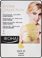 Düfte, Parfümerie und Kosmetik Feuchtigkeitsspendende und glättetende Serum-Maske - Iroha Divine Collection Gold & Collagen