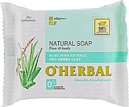Düfte, Parfümerie und Kosmetik Naturseife mit Aloe vera-Extrakt und grüner Tonerde für Gesicht und Körper - O'Herbal Natural Soap