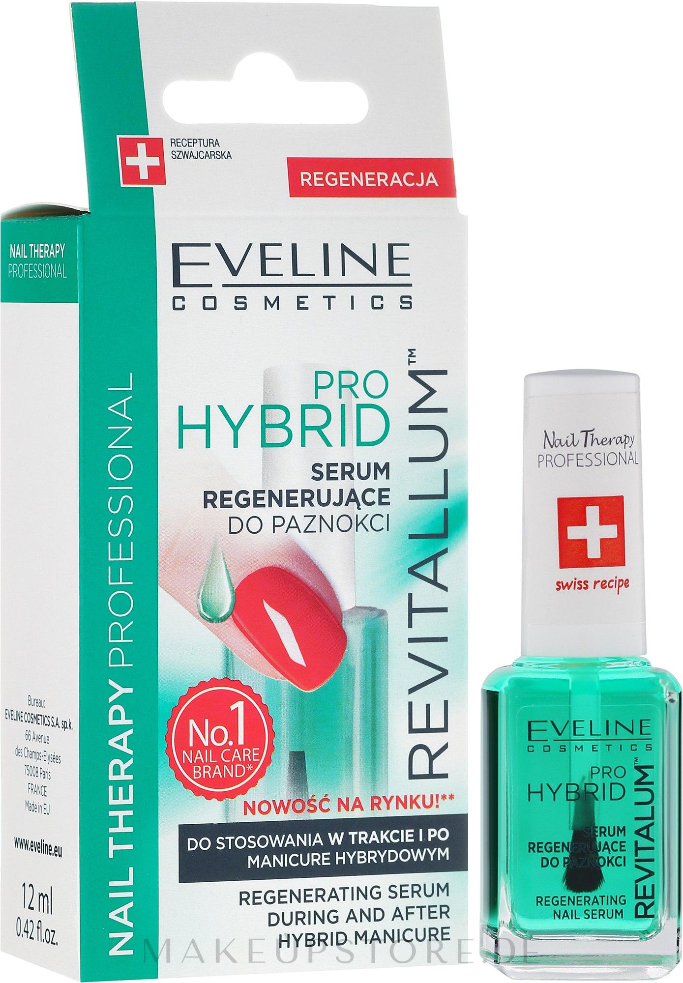 Regenerierendes Nagelserum für Hybrid-Lack - Eveline Cosmetics Nail Therapy Professional Revitalum Pro Hybrid — Bild 12 ml