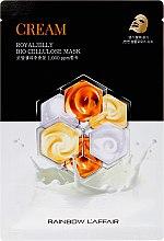 Düfte, Parfümerie und Kosmetik Gesichtsmaske mit Gelée Royale - Rainbow L'Affair Royal Jelly Bio Cellulose Mask