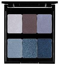 Düfte, Parfümerie und Kosmetik Lidschattenpalette mit 6 Farben - Pierre Rene Palette Match System Eyeshadow Nude Blue