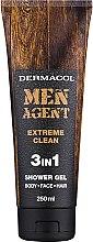 Düfte, Parfümerie und Kosmetik Körper, Gesicht und Haar Duschgel für Männer 3in1 - Dermacol Men Agent Extreme Clean 3in1 Shower Gel