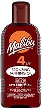 Düfte, Parfümerie und Kosmetik Bräunungsöl mit Kokosnuss SPF 4 - Malibu Bronzing Tanning Oil SPF4