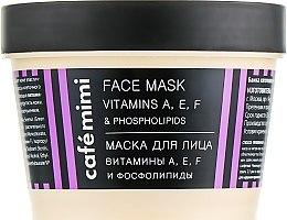 Düfte, Parfümerie und Kosmetik Gesichtsmaske mit Vitamin A, E, F und Phospholipiden - Cafe Mimi Face Mask