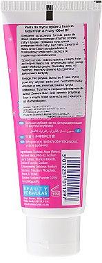 Kinderzahnpasta ohne Zucker mit Erdbeergeschmack und Fluorid - Beauty Formulas Active Oral Care — Bild N2