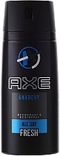 "Düfte, Parfümerie und Kosmetik Deospray ""Anarchy"" - Axe Anarchy Deodorant Body Spray"