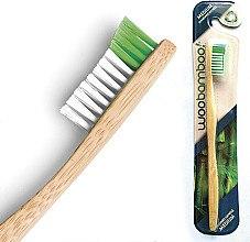 Düfte, Parfümerie und Kosmetik Bambuszahnbürste mittel grün-weiß - Woobamboo Adult Standard Handle Toothbrush Medium