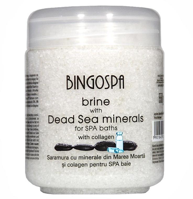 Badesalz mit Mineralien aus dem Toten Meer und Kollagen - BingoSpa Brine Of The Dead Sea Minerals With Collagen Transdermal — Bild N1