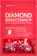 Düfte, Parfümerie und Kosmetik Aufhellende und beruhigende Tuchmaske mit Perlenextrakt und Diamantpulver - Some By Mi Diamond Brightening Calming Glow Luminous Ampoule Mask