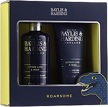 Düfte, Parfümerie und Kosmetik Körperpflegeset - Baylis & Harding Men's Citrus Lime & Mint 2 Piece Set (Shampoo-Gel für Haar und Körper 300ml + Duschgel 200ml)