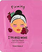 Düfte, Parfümerie und Kosmetik Straffende Gel-Patches für die Augenpartie mit Rotweinextrakt - Tony Moly Red Wine Eye Mask