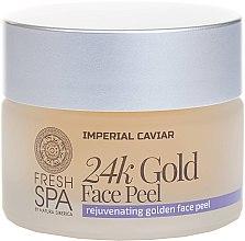 Düfte, Parfümerie und Kosmetik Luxuriöses goldenes Gesichtspeeling 24K Gold - Natura Siberica Fresh Spa Imperial Caviar Rejuvenating Golden Face Peel 24K Gold