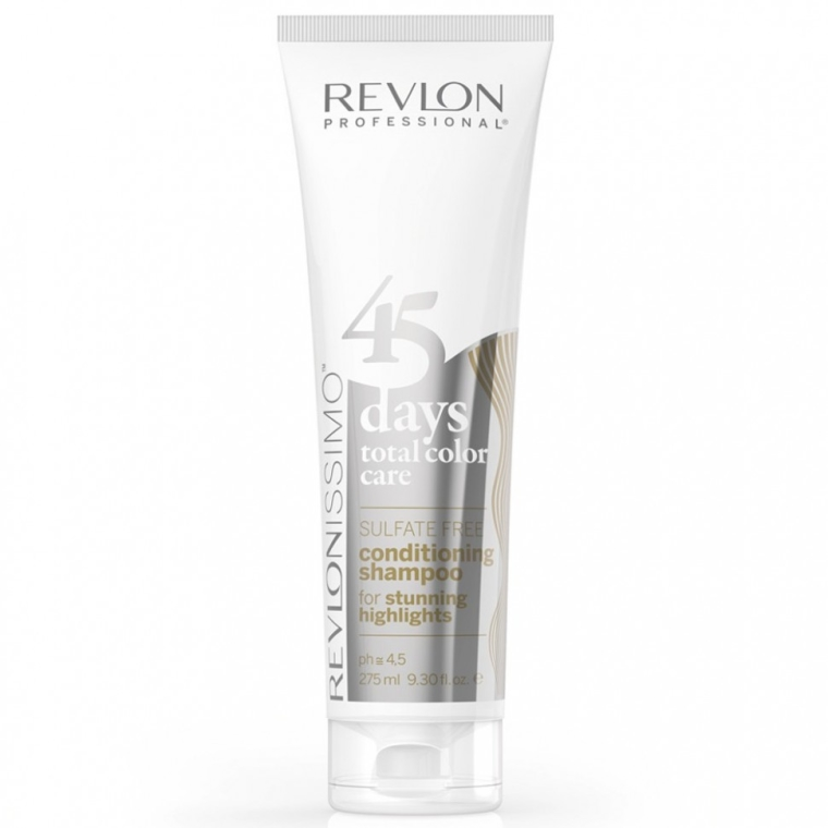 2in1 Shampoo und Conditioner für weißes & coloriertes Haar - Revlon Professional Revlonissimo 45 Days Stunning Highlights Shampoo & Conditioner — Bild N1