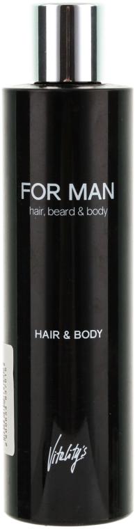 Shampoo-Gel für Körper und Haar - Vitality's For Man Hair & Body Shampoo — Bild N1