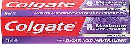 Düfte, Parfümerie und Kosmetik Aufhellende Zahnpasta Maximum Cavity Protection - Colgate Maximum Cavity Protection Whitening Toothpaste