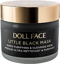 Gesichtsmaske mit Aktivkohle, Lakritzextrakt und Akazie - Doll Face Little Black Mask Super Purifying & Clearing Mask — Bild N2